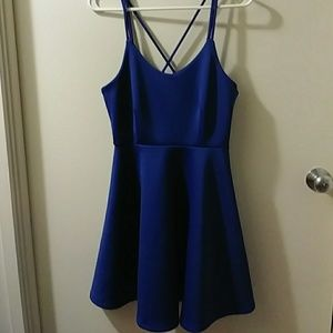 Gorgeous blue strap dress